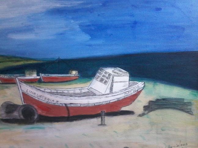Boats and beach - Punta del Diablo, Rocha,Uruguay